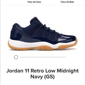 Jordan retro 11 low midnight navy (gs)